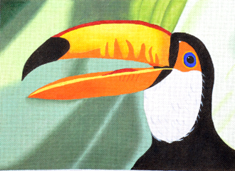 Toucan (Handpainted by Maps Designs) 18*B106