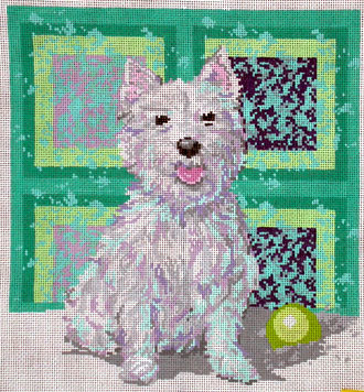 Westie (Handpainted by Ruth Schmuff Designs) 18*1181