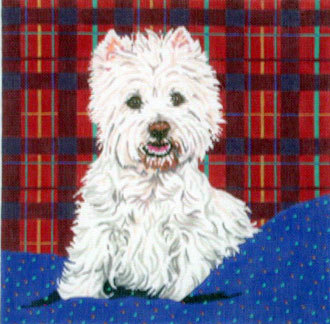 Westie II (Handpainted by Barbara Russell Designs) 18*BR179