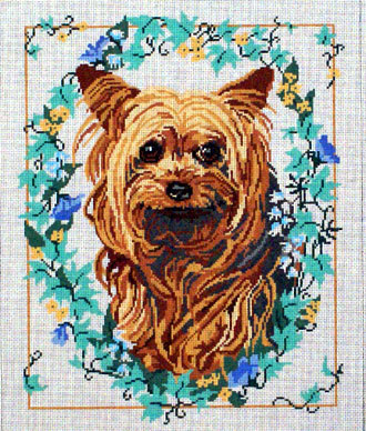 Yorkie (Handpainted by Barbara Russell Designs) 18*BR48