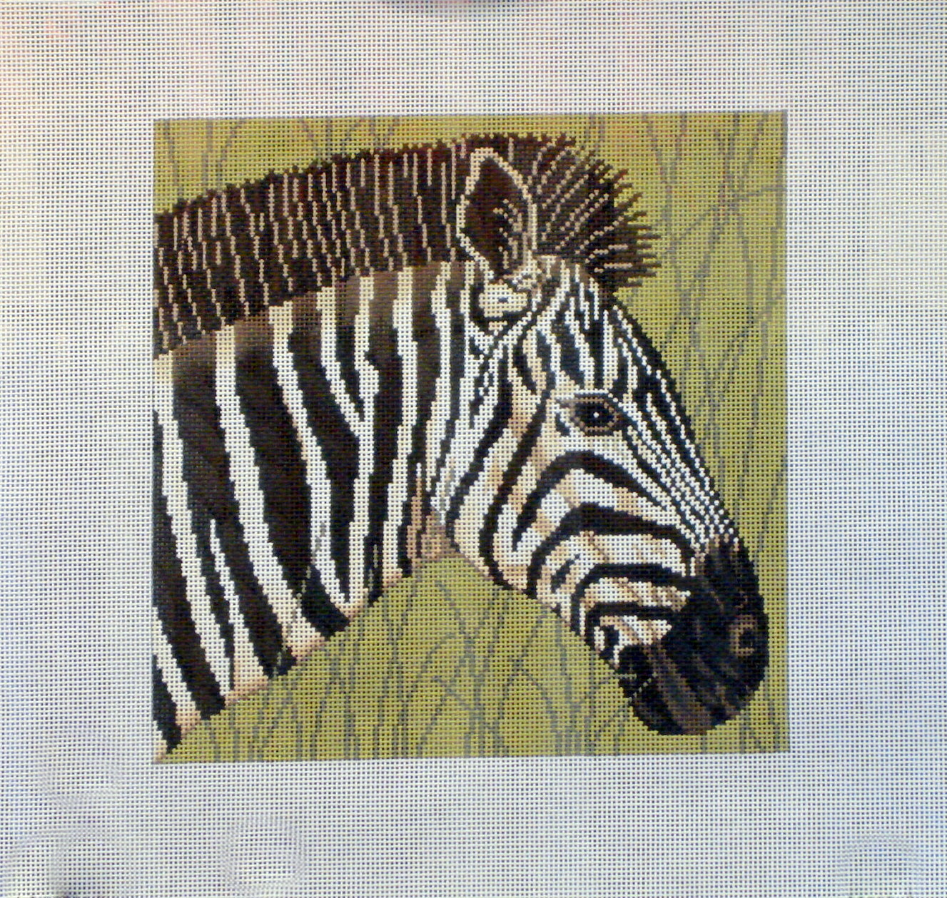 Zebra in Grass       (Handpainted by JP Designs) 18*A-107
