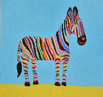 Zingy Zebra (Handpainted by Birds of a Feather) 18*CC711