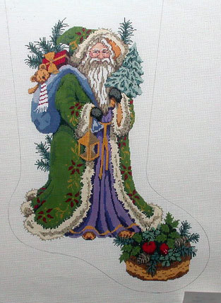 Pere Noel Stocking   (handpainted by Gayla Elliot) 18*GE602