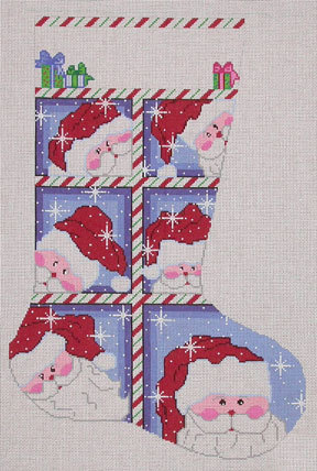 Large Window Santa Stocking (Handpainted by Cheryl Schaeffer Designs) 18*CXS6