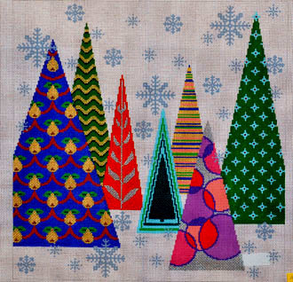 Christmas Tree Pillow (Handpainted by Trubey Designs)
