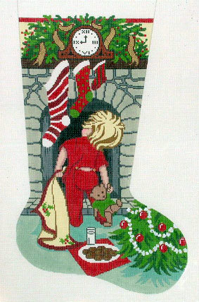Cookies for Santa/B Stocking (Handpainted by Gayla Elliott Designs) 18*GE-606