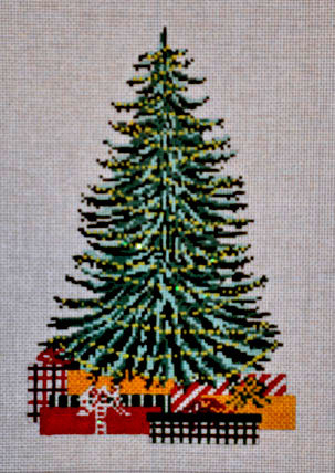 Old Christmas Tree Pillow (Handpainted by Needle Crossings) 18*2890