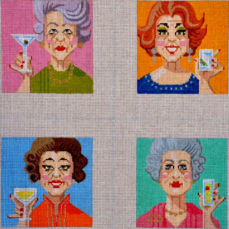Coasters,  Ladies Who Lunch, Set of 4 (Handpainted by Labors of Love) 18*12011000