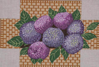 Hydrangea Brick Cover  (handpainted by Needle  Crossings) 18*NC-18