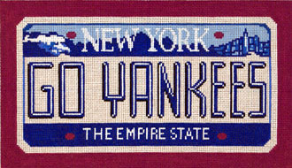 Go Yankees       (Handpainted by CBK Needlepoint Collection) 18*SA-LP