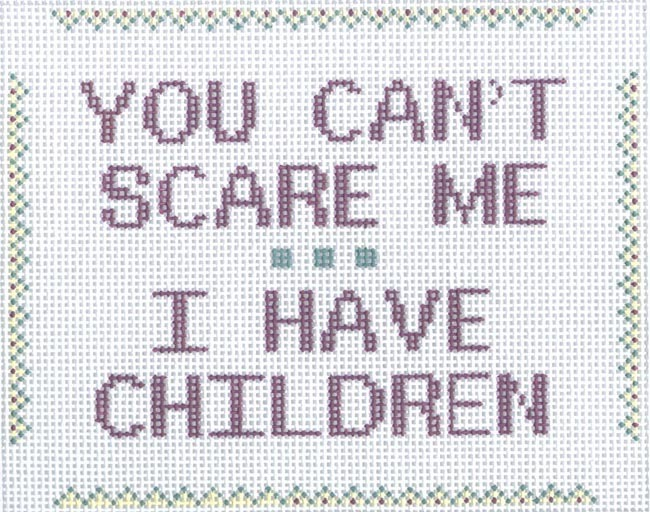 You Can't Scare Me…Children (Handpainted by CBK Needlepoint Collection) 18*sign??