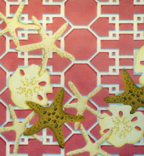 Starfish Sand Dollar, Coral Lattice  (Associated Talent) 1307