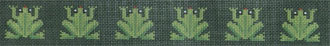 Hip Hop Frogs on Hunter Belt      (JP Needlepoint) *BL-090