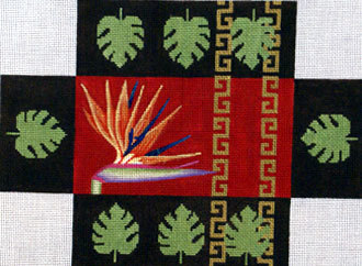 """Bird of Paradise"" Brick Cover ( Handpainted by JP Needlepoint) 18*BC-017"
