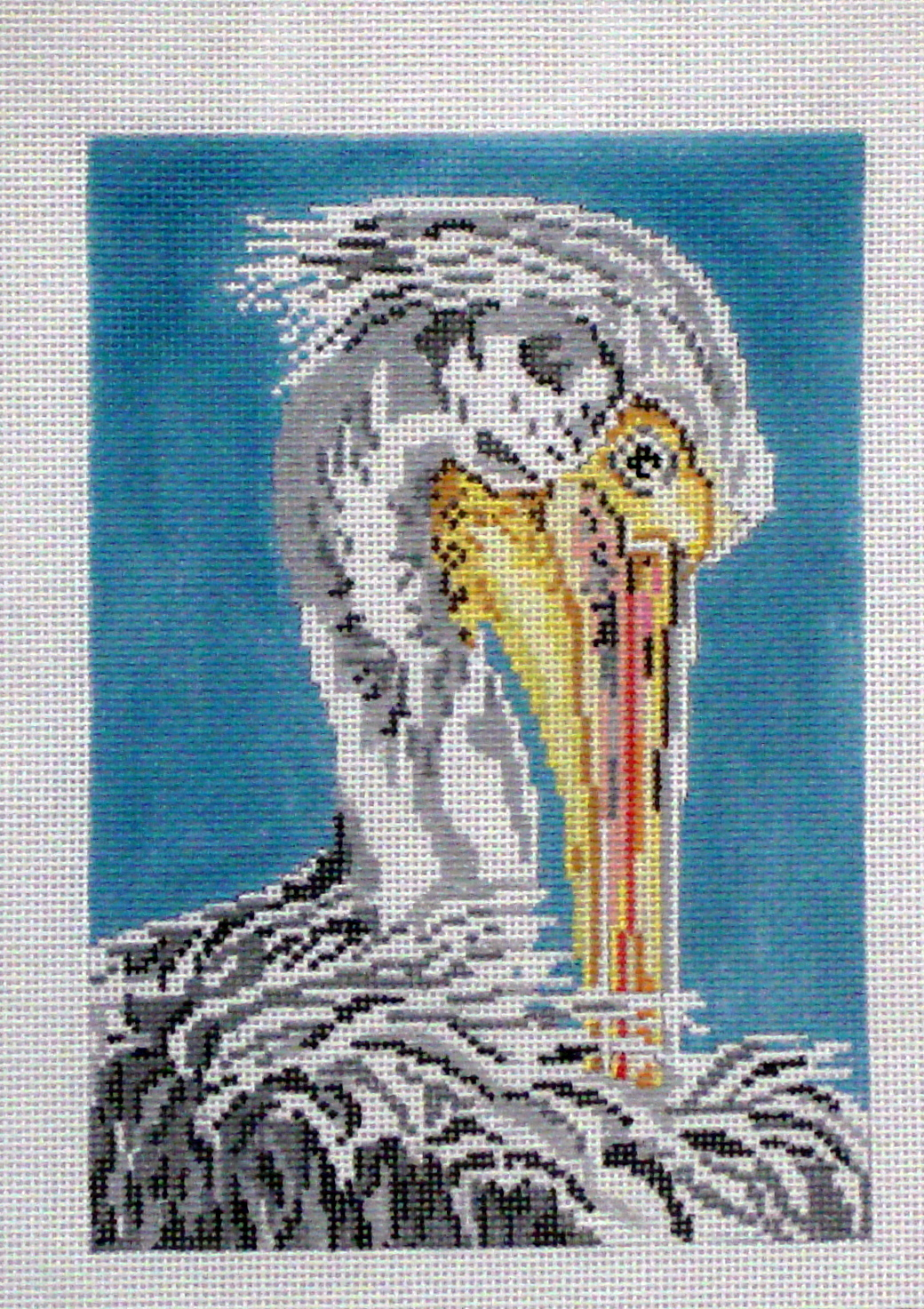 White Pelican (Handpainted by Needle Crossings) 18*1629-13