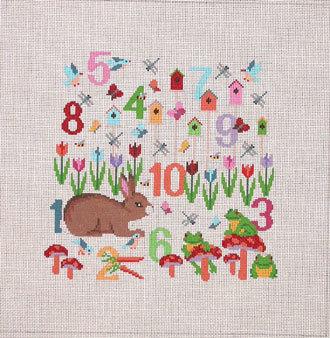 Number Garden     (handpainted by Susan Roberts) 18*1304