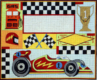 Race Car Birth Announcement   (Handpainted by Alice Peterson Company) 18*3478