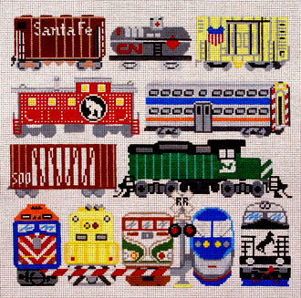 Train Cars     (handpainted by Susan Roberts) 18*EP-1049