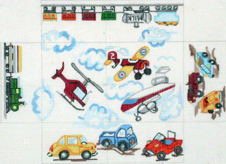 Planes, Trains & Cars Brick Cover  (handpainted from Meredith Collection) 18*BC-21