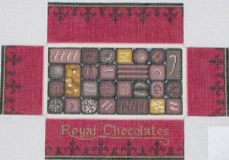 Box of Chocolates Brick Cover (Hand painted canvas by Susan Roberts designs) 18*0395