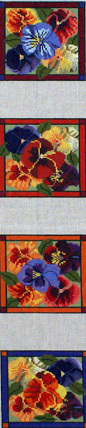 Coasters, Pansy, Set of 4 (Whimsy & Grace) WG11670C