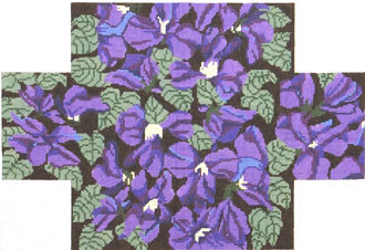 Violets Brick Cover (Handpainted by Whimsy & Grace Designs) 18*WG-11714B--13