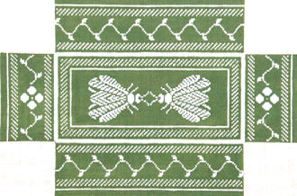Napolean Bee Brick Cover (Green/Silver) (Handpainted by Whimsy & Grace Designs) 18*WG11634B