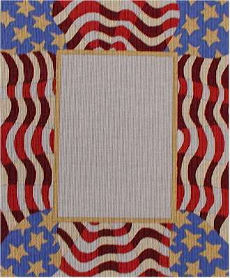 Waving Flag Picture Frame A42-F251A