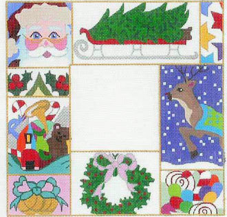 Christmas Patchwork Picture Frame A42-F-271