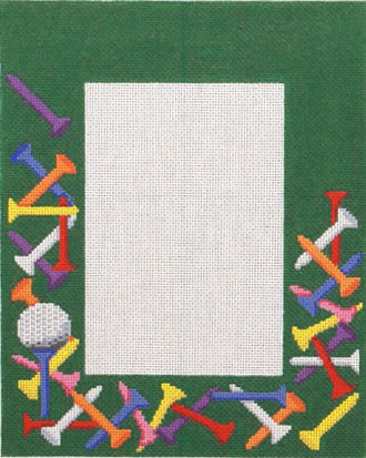 Golf Tees Picture Frame    (handpainted by Susan Roberts) 18*MH4406