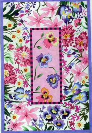 Pink Floral Rug (Handpainted by Lee's Needle Arts) 18*R1023