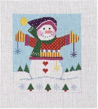 Knitted Snowman (Handpainted by Shelly Tribbey Designs) 18*C850