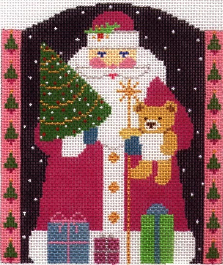 Glitzy Santa (Handpainted by Shelly Tribbey Designs) 18*C800