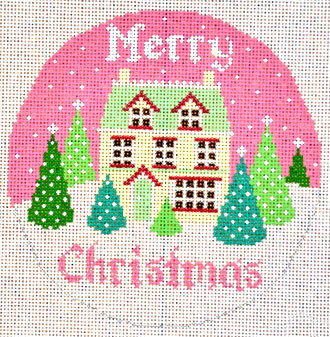 Merry Christmas House (Handpainted by Shelly Tribbey Designs) 18*C116