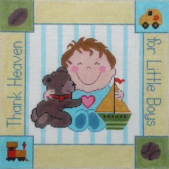 Thank Heaven for Little Boys   (Handpainted by Lee's Needle Arts, Inc) 18*WH1223