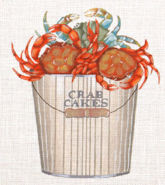 Crab Cakes   (handpainted by Melissa Shirley) 18*MLT-78A