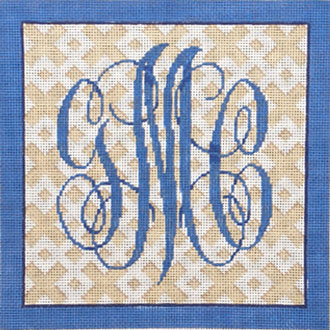 Custom 3 Letter Monogram On Trellis     (Associated Talent)