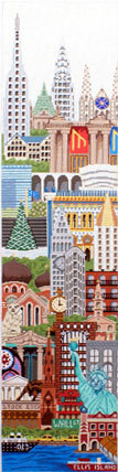 New York Wall Hanging (Handpainted by Trubey Designs) 18*BP-006