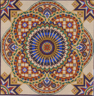 Tile Pattern  (handpainted by Treglown Designs) 18*G-702