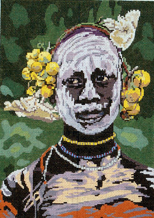 African Fashion Man     (Hand Painted by Barbara Russell)