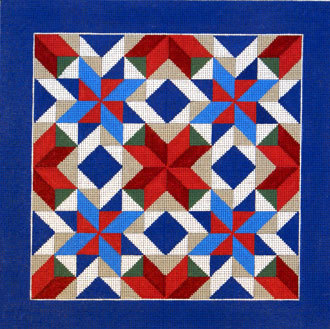 Pinwheel Star Quilt      (handpainted by Susan Roberts Designs) 18*1610