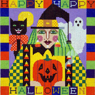 Happy Halloween Witch   (handpainted by Shelly Tribbey) 18*H200