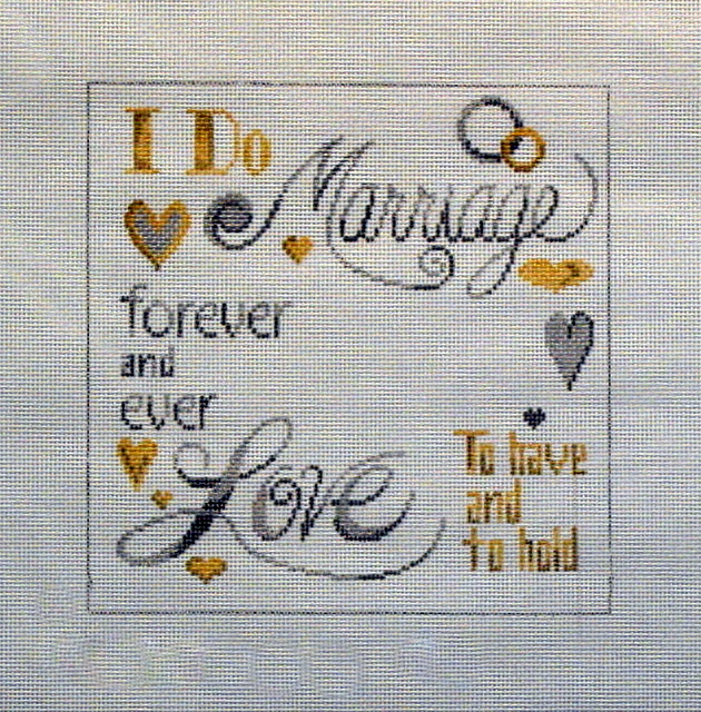 Marriage Pillow (Handpainted by Patti Mann) 18*561
