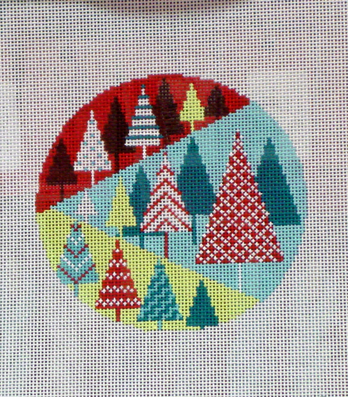 Festival of Trees Round (Handpainted by Shelly Tribbey Designs) 18*C333