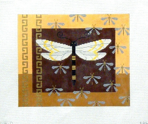 Big Dragonfly and Baby Dragonflies    (Handpainted by JP Needlepoint) 18*B-026