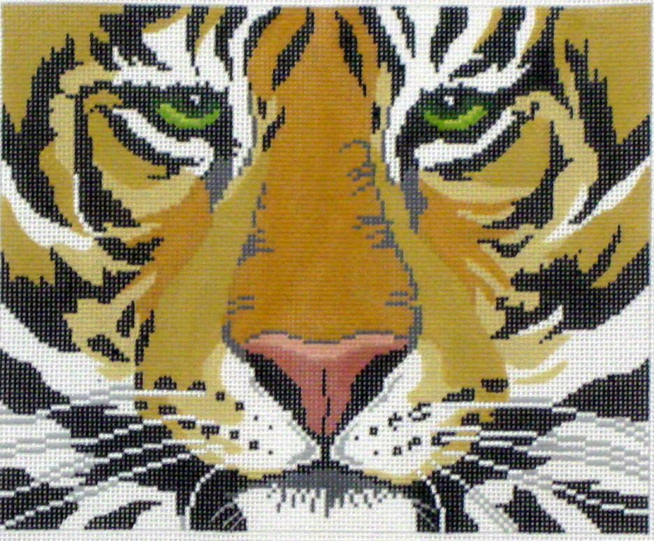 Tiger Face     (Hand Painted by Lee Designs) 18*BF05-W