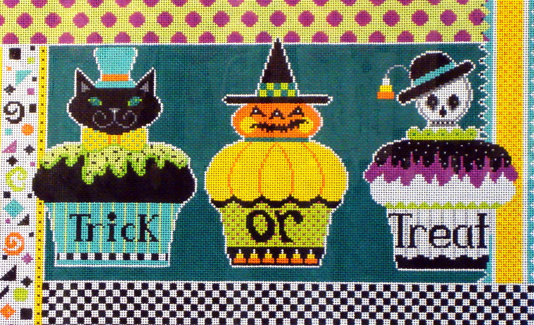Halloween Cupcakes   (hand painted by Shelly Tribbey Designs) 18*H310