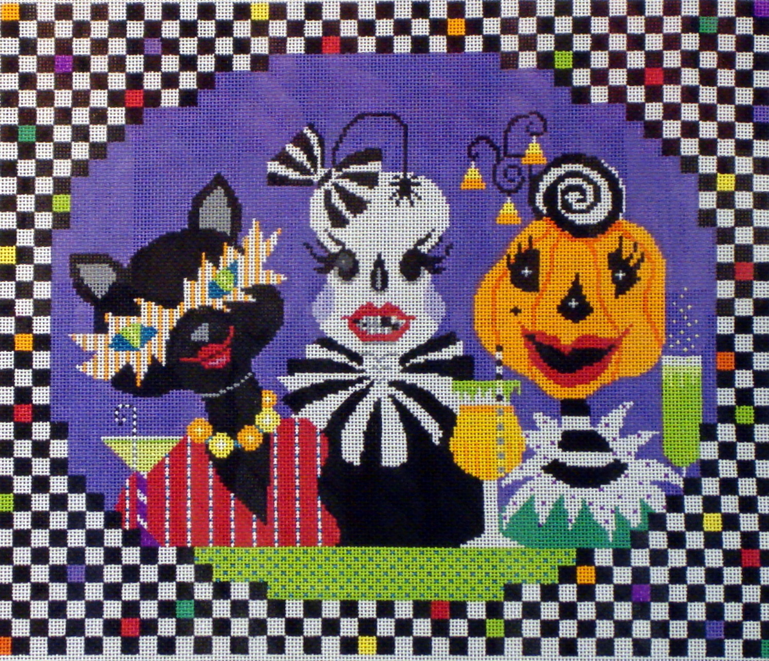 Ghoulish Girls Night Out   (Handpainted by Shelly Tribbey Designs) 18*H76