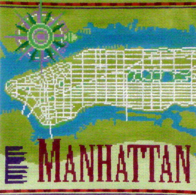 Manhattan   (Handpainted by Ruth Schmuff Designs) 18*1144