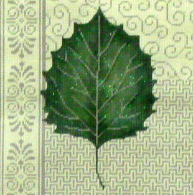 Aspen Leaf Patchwork   (Hand Painted by JP Designs) 18*V-090